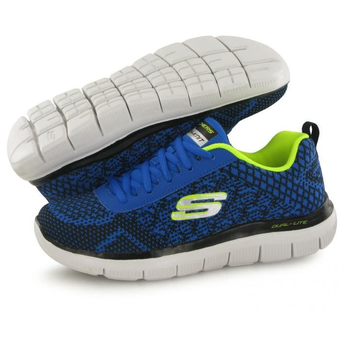 Skechers Flex Advantage 2.0 bleu, baskets mode enfant