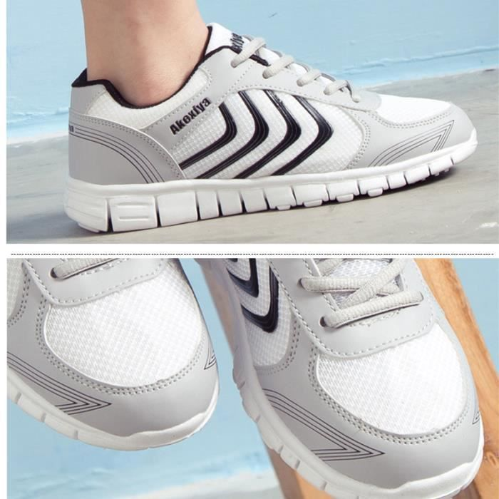 JOZSI Baskets Homme Chaussure hiver Jogging Sport Ultra Léger Respirant Chaussures DTG-XZ230Blanc39 STRAS7J0P