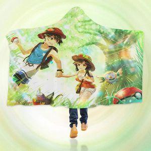 COUVERTURE - PLAID 3D Hooded Blanket for Pokemon 8246  Couverture à C