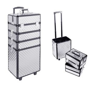 VALISE - BAGAGE Valise de Maquillage Argent - Trolley Mallette Cos