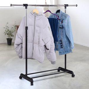 PENDERIE MOBILE COSTWAY Portant à Vêtements Mobile Télescopique en