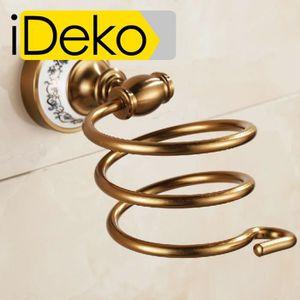 PORTE SECHE-CHEVEUX iDeko® Porte accessoire douche support sèche-cheve
