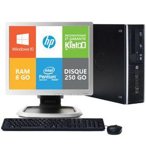 UNITÉ CENTRALE + ÉCRAN ordinateur de bureau HP elite 8200 dual core 8go r