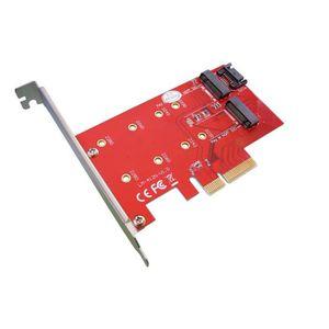 CARTE CONTROLEUR Carte Controleur PCIe pour SSD M.2 - 2 ports  : 1x