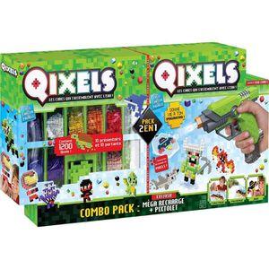 JEU DE PERLE Á REPASSER Asmokids - KK87182 -QIXELS - Combo Pixtolet et Még