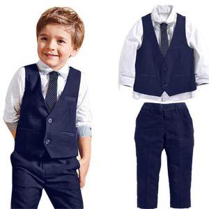 Ensemble de vêtements Bébés garçons Gentleman mariage Costumes Chemises