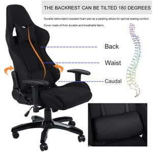 CHAISE DE BUREAU Chaise Fauteuil siège Bureau racing gaming chaise