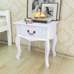 chevet table de chevet mdf blanc 455 x 33 x 43 cm table - Table De Salle A Manger Industriel2928