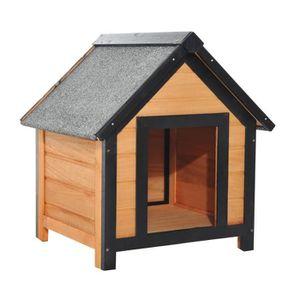 NICHE Niche pour chien en bois sur pied chenil toit doub