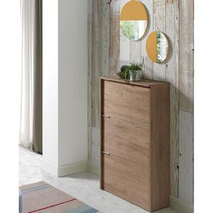 MEUBLE À CHAUSSURES Commode meuble à chaussures coloris Noyer - Dim :