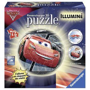 PUZZLE CARS Puzzle 3D Illuminé 72 pcs - Disney