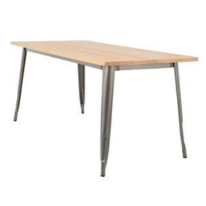 TABLE À MANGER SEULE Table LIX Brossée en Bois (160x80)  Bois NaturelAc