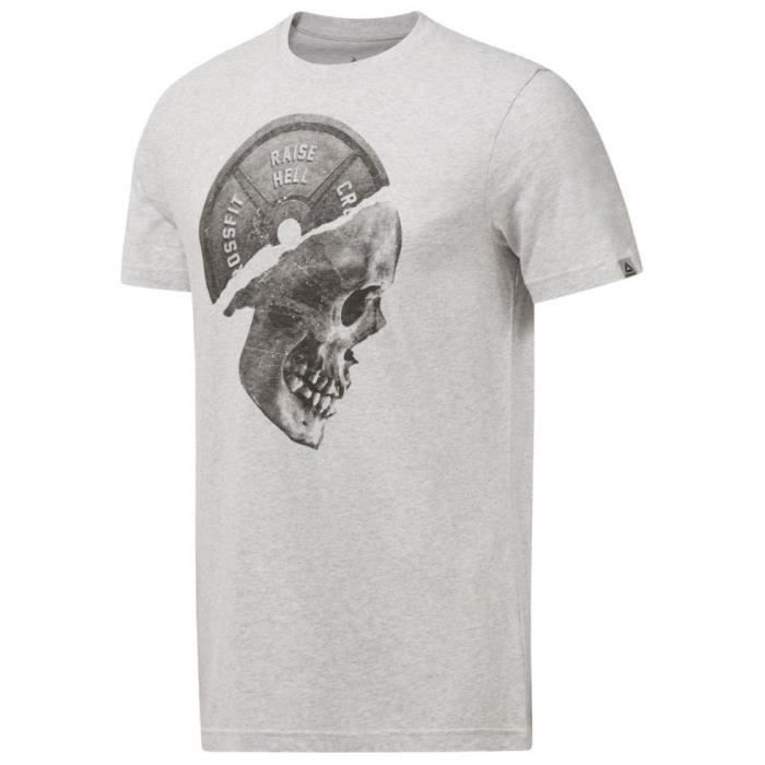 REEBOK T-shirt Plated Skull - Homme - Gris