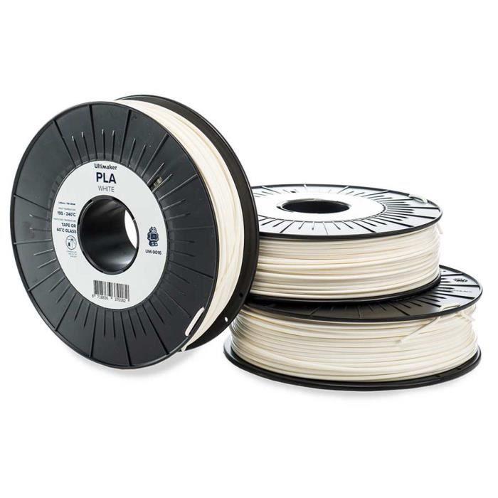 Ultimaker Cartouche de filament Pla 2.85mm Blanc 750 g