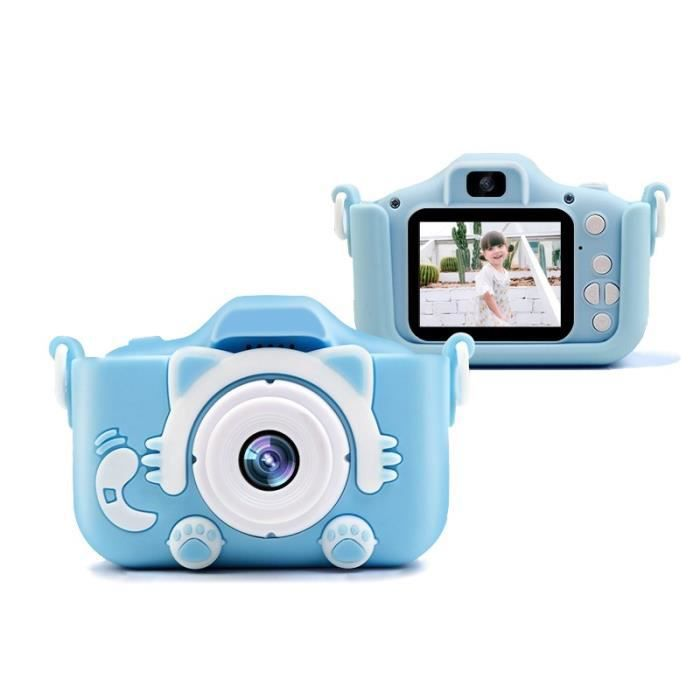 Appareil Photo Enfant Enfants Appareil Photo Numérique 1080P Jeu Vidéo Photo Appareil Pour Enfants Avec Batterie 400Mah - Bleu