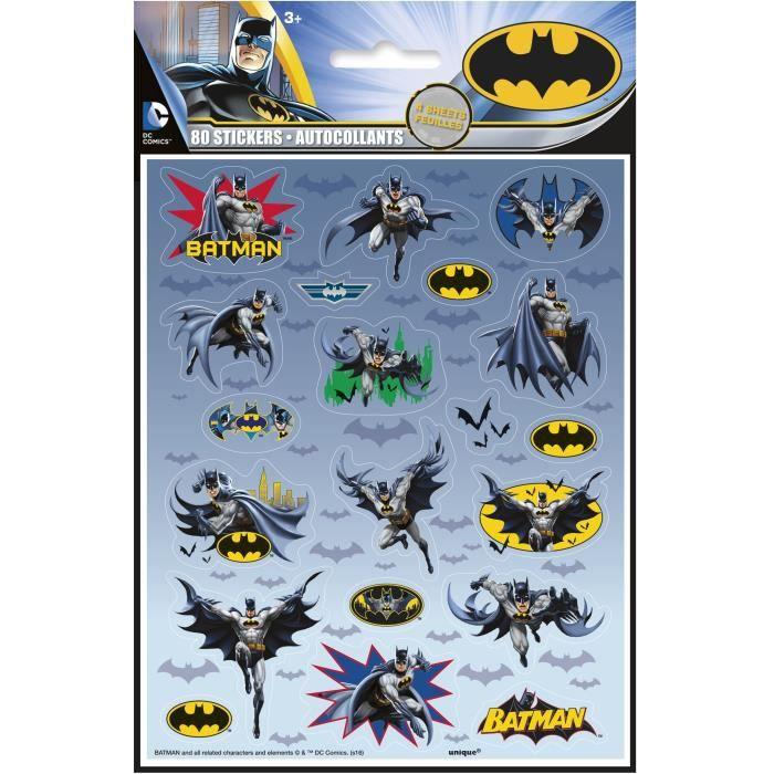 4 Feuilles de stickers Batman
