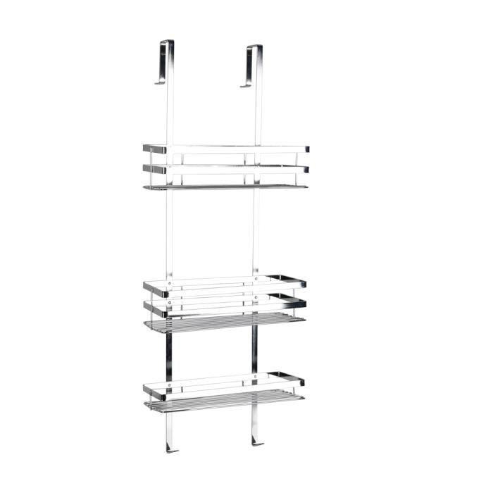 LAIZERE® Etagère salle de bains avec Panier de douche 3 couches de Installation facile