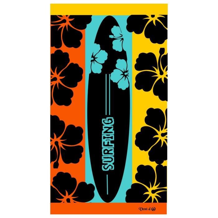 DRAP DE PLAGE SURFING JACQUARD SERVIETTE DE BAIN 95x175cm