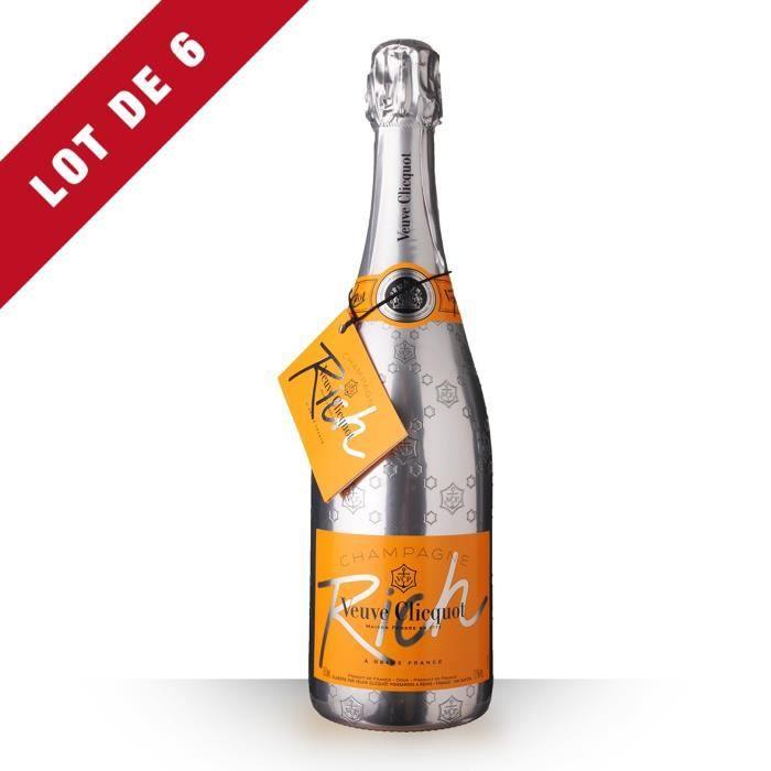 6X Veuve Clicquot Rich Brut 75cl - Champagne