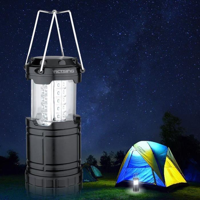 lot de 3 Lanterne de Jardin/Lampe de Camping Portables Ultra-compactes Etanche 30 LED