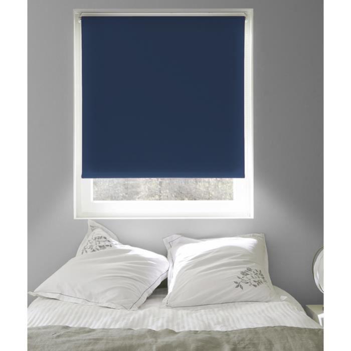 MADECOSTORE Store Enrouleur Occultant Uni - Bleu foncé - L184 x H190cm
