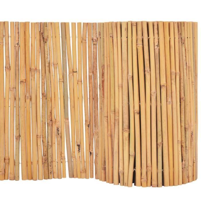 ♫2130 Clôture de jardin Brise vue Classique Bambou 500 x 30 cm FNCM®