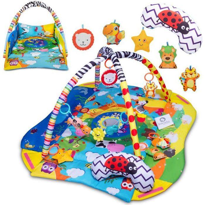 LIONELO Tapis d'éveil bébé Anika aire de jeu avec accessoires et jouets