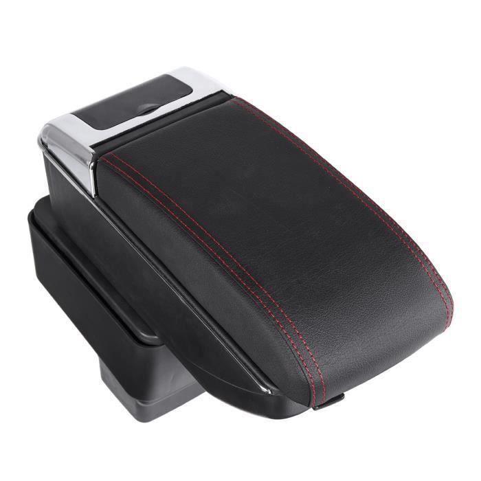 Boîte de Rangement Accoudoir Console de Repose-bras Central Pr Mazda CX-3 2015-2018 Noir + rouge ma57311