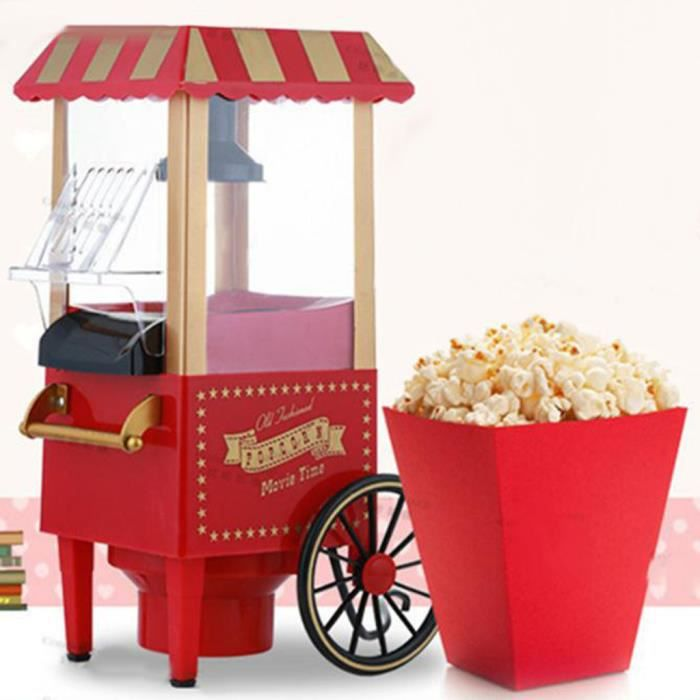 Petite machine à pop-corn de chariot Machine à pop-corn de famille de cadeau créatif _sco31