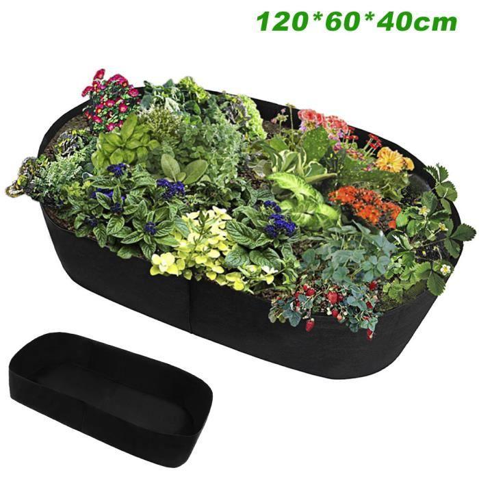 Sac de culture lit de jardin Anti Corrosion extérieur jardinière de légumes Non tissé tissu semis Gallon arbre - Type 60 x60 x40 cm