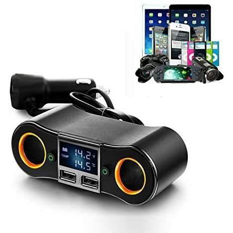 ALLUME CIGARE Multiprise USB Rallonge Allume Cigare Riloer 12V et 24V Adaptateur Chargeur Voiture Camion Bateau prise double USB227