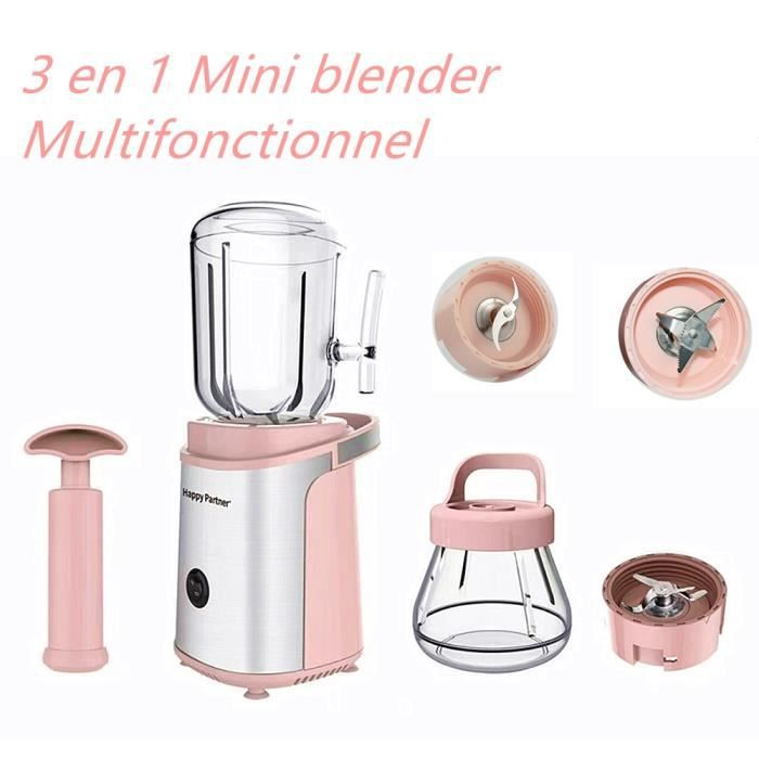 Blender + hachoir Mixeur Multifonction 3-en-1 pour Extraction de jus, viande hachée, broyage à sec, brassage, préparation de milksha
