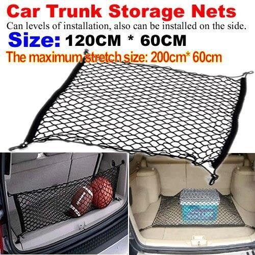 Accessoires auto intérieurs,Filet à bagages de voiture coffre arrière filets de rangement sac adapté pour - Type Big net 120 X 60