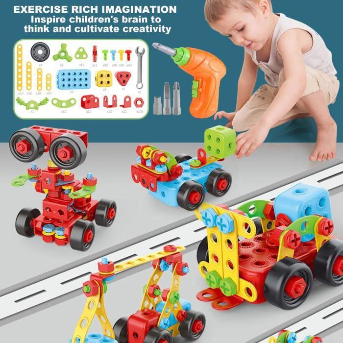 Bricolage Enfants Vis Assemblage Machine Écrou Blocs de Construction Enfants Assemblage Jouet n2535