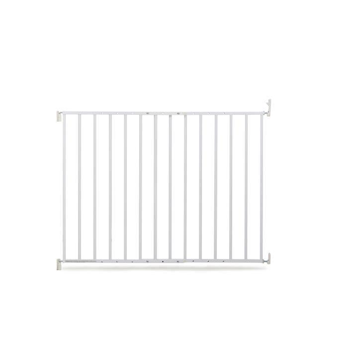 GEUTHER Barrière de sécurité extensible en métal pour porte et escalier - Réglable : 60 à 107 cm