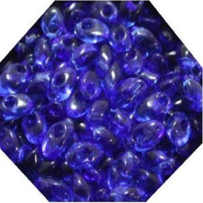 Perles de pluie Bleu Royal