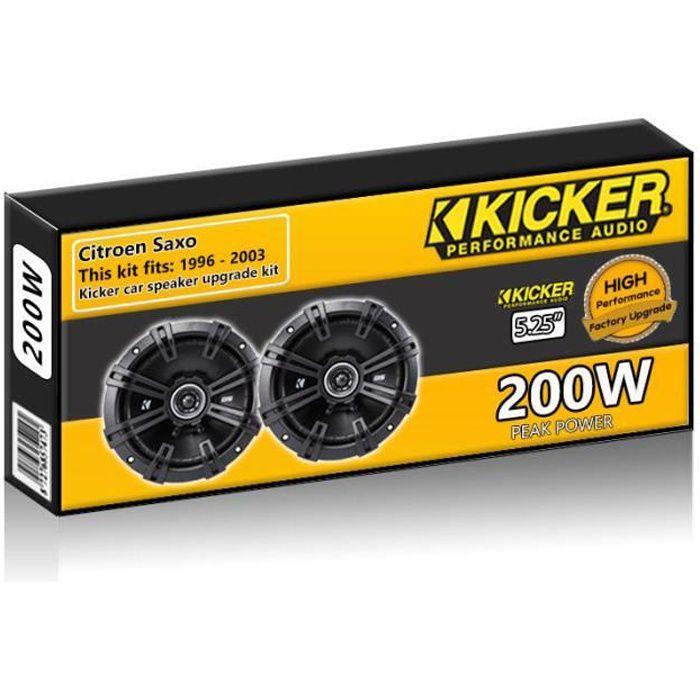 Citroen Saxo Haut-parleurs Kicker 5.25 -enceinte de voiture 13cm mise à niveau 200W