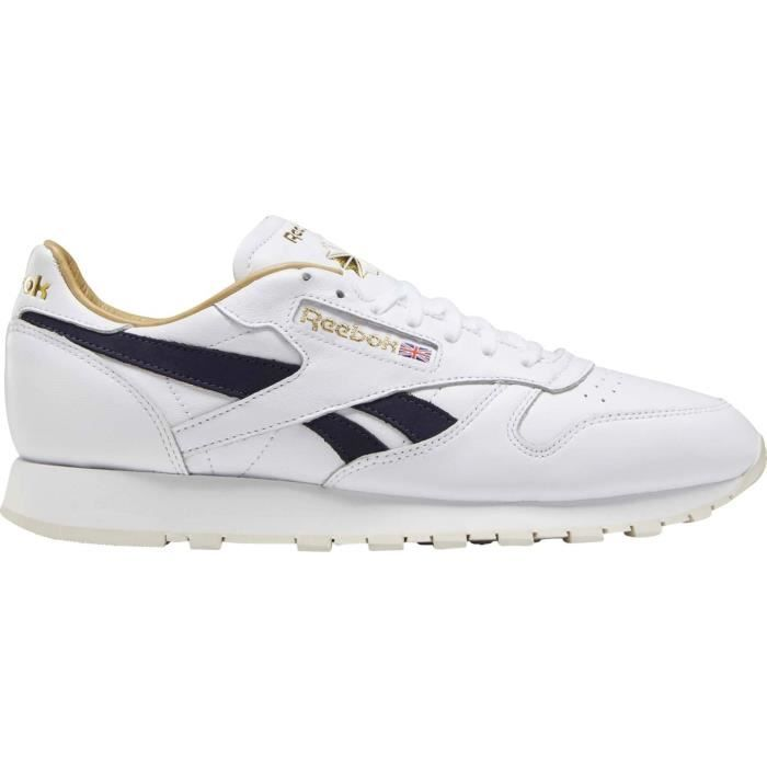 Reebok CL Leather MU Hommes Baskets blanc