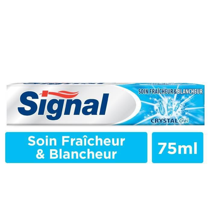 SIGNAL Dentifrice Crystal Gel avec Microparticules blancheur - 75 ml