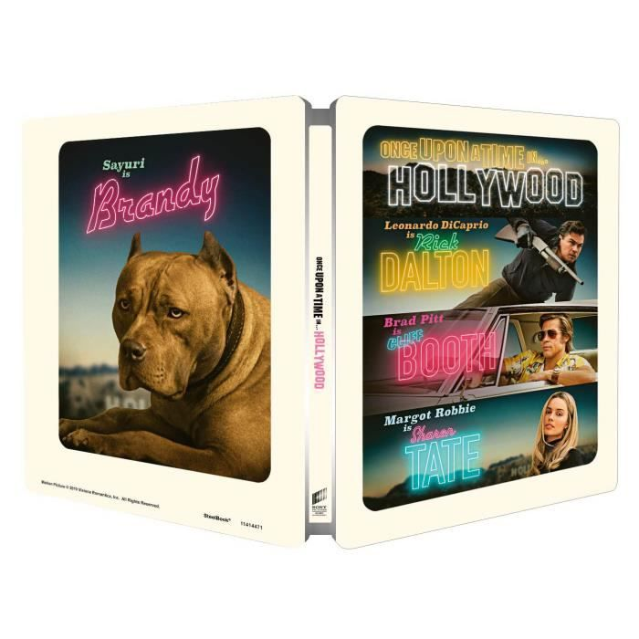 One Upon A Time in... Hollywood Bluray 4K Boite Metal Collector