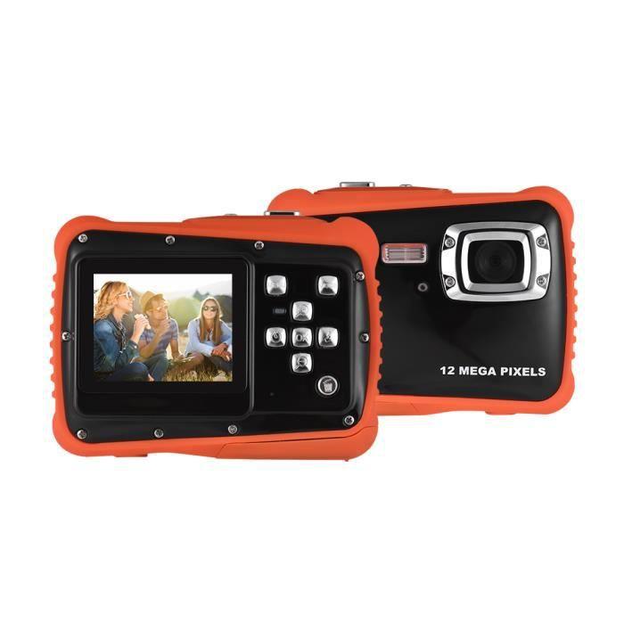 720P HD Enfant Caméscope Caméra Numérique 5MP CMOS Capteur 2.0- LCD 3m Etanche intégré Flash Noir