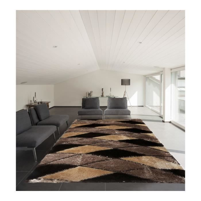 allotapis tapis moderne brilant shaggy pour salon beige. Black Bedroom Furniture Sets. Home Design Ideas