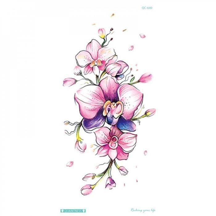 Tatouage éphémère 11chaud 1pc Populaire Ballet Noir Blanc Fleurs S Autocollant Dessin Art Corporel Faux Transfert Eau