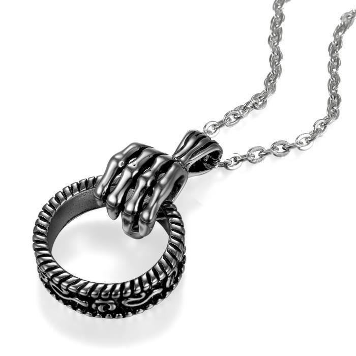 collier homme anneau
