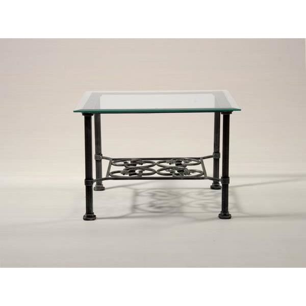 Table basse carr e en fer forg isora 2 six couleurs au for Table basse gris anthracite