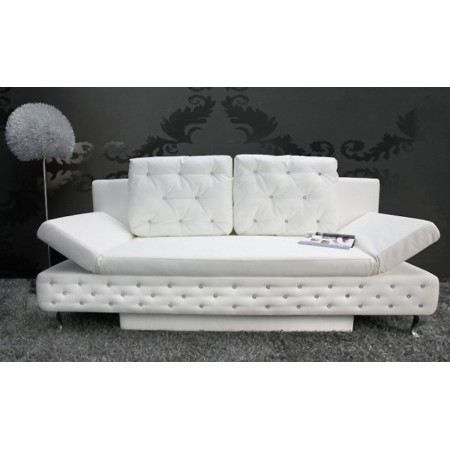 canap lit capitonn lady strass blanc achat vente canap sofa divan soldes cdiscount. Black Bedroom Furniture Sets. Home Design Ideas