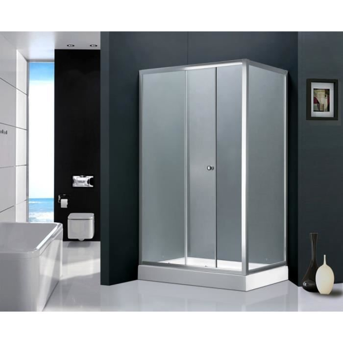 infra paroi de douche l 120 x l 80 x h 198 cm receveur inclus structure en aluminium haute. Black Bedroom Furniture Sets. Home Design Ideas