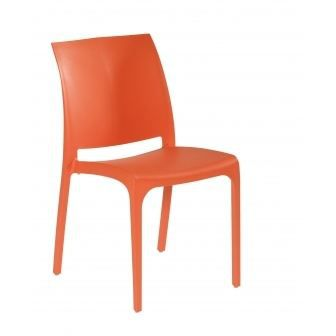 Chaise de jardin resine orange achat vente chaise for Chaise de jardin solde
