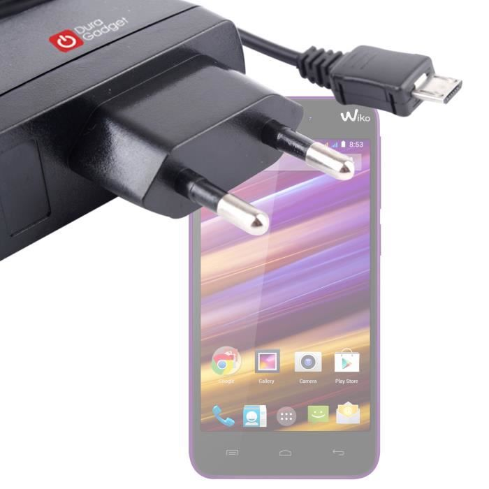 chargeur smartphone appareil photo wiko jimmy prix pas cher cdiscount. Black Bedroom Furniture Sets. Home Design Ideas