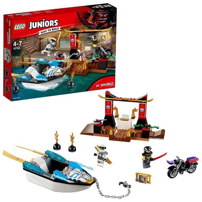 ASSEMBLAGE CONSTRUCTION Lego Juniors Ninja Zane Bateau Pursuit pour les en